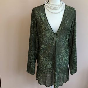 Victoria Secret M green camo sleep shirt